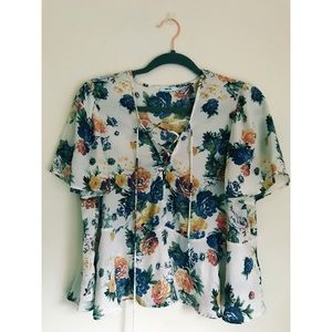 Floral Urban Outfitters Blouse
